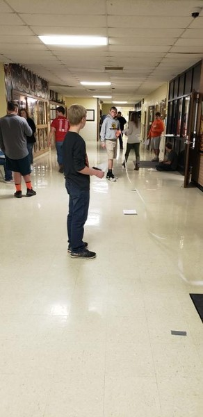 Physical Science Students Calculate Their Own Speed