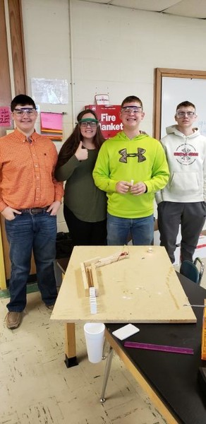 Physical Science Students Create Rube Goldberg Machines