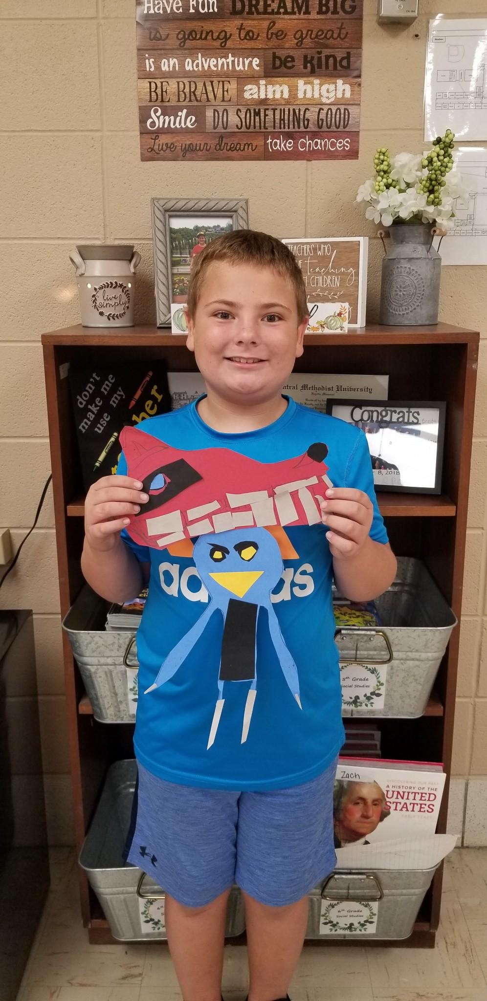 4th Graders Create Totem Poles