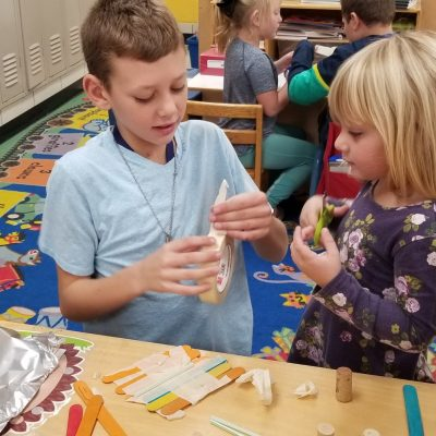 Preschool, 3rd & 5th Grades Combine for STEM Activity