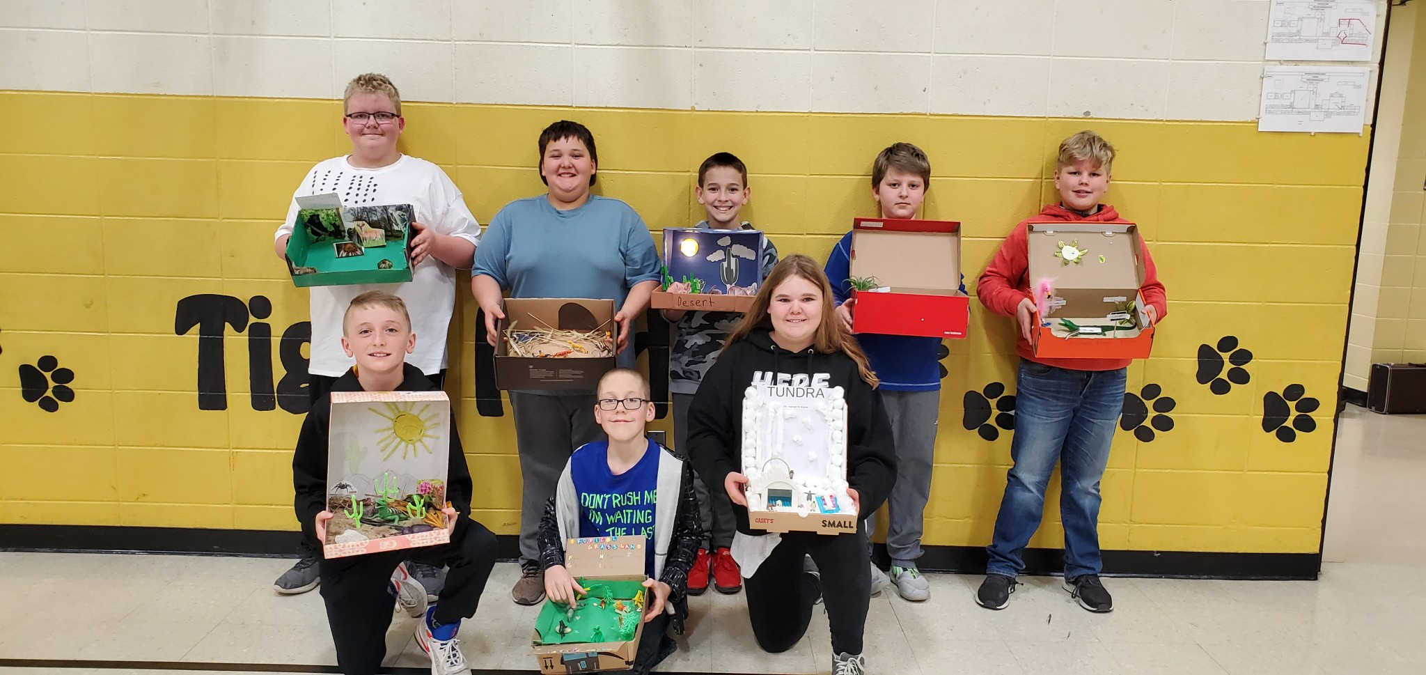 6th Grade Science Class Makes Biomes