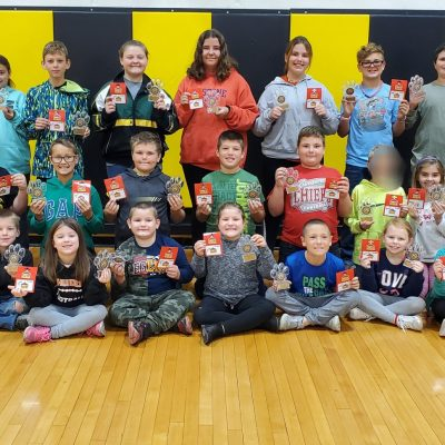 Elementary Students Receive PAWS Awards for 2019-2020 School Year